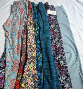 Lot of 6 pair of leggings lularoe & cozy